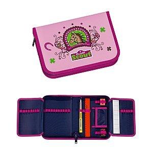 Scout Schulranzen-Set Etui 7 tlg Lucky Horse 20 cm Pink 66080070100