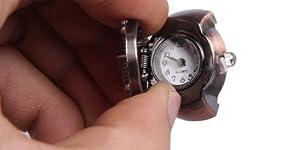 ドクロ 指時計 (海賊型) リング リング時計 リングウォッチ 時計 指 時計 ドクロ スカル 海賊 (ゴールド)