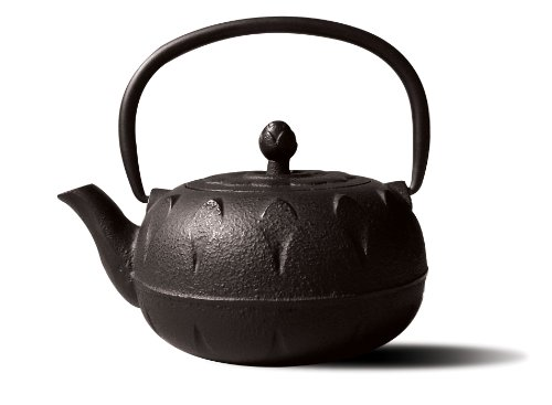 Old Dutch Cast Iron Chubu Teapot, 18-Ounce, Matte Black front-63507