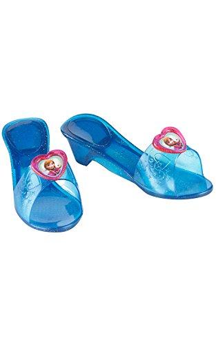 Princesas Disney - Zapatos de Anna, para niñas, talla M, color azul marino (Rubie's 36169)
