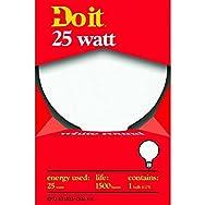 Do it Decorative Globe Light Bulb-25W WHT 3-1/8GLOBE BULB