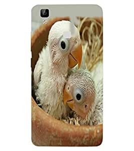 ColourCraft Cute Birds Design Back Case Cover for VIVO V3 MAX