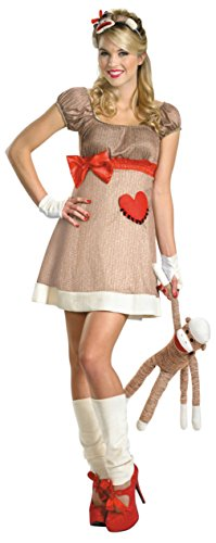 Disguise Womens Animals Ms. Sock Monkey Deluxe Halloween Themed Fancy Costume