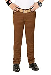 Boys Cotton Brown Jeans By Clench