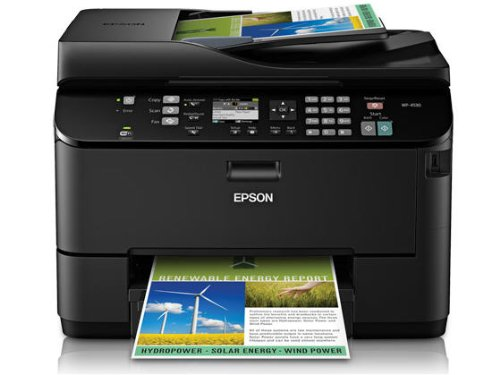 Epson WorkForce Pro WP-4530 Wireless All-in-One Color Inkjet Printer, Copier, Scanner, Fax (C11CB33201)