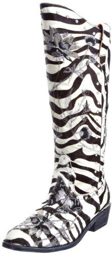 B. Feldman Women's Base Zbra Poni/Petr Silver Cowboy Boots 50007-405-990 5 UK, 38 EU