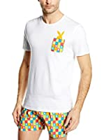 Playboy Camiseta Interior Cotton Stretch Classical Style (Blanco)
