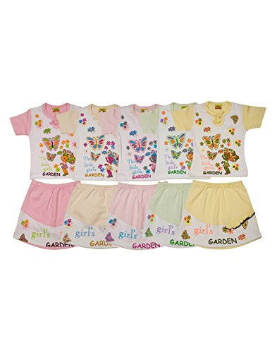 Dear kids 18-24 Months Infant wear,dress,clothing top and skirt set pack of 5 for baby girls