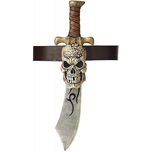 Pirate Sword with Skull Sheath Costume Accessory (Gladiator Costume Sword And Sheath)