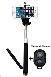 Hard Dual Tough Military Grade Defender Series Bumper back case with Flip Kick Stand for Huaweai Honour 5X + Wireless Bluetooth Remote Selfie Stick for all Smart phones by carla store.