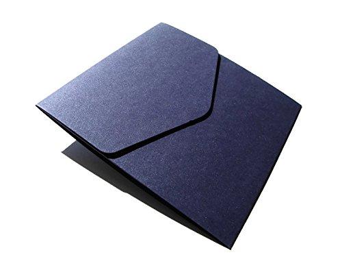 5-x-piccolo-quadrato-122-x-125-mm-blu-navy-perlescente-pocketfold-inviti-formato-di-cranberry-card-c