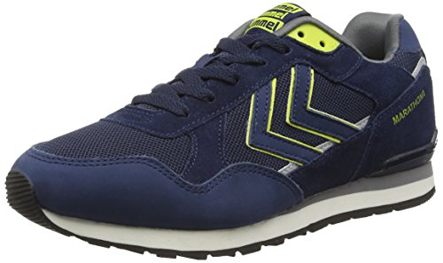 Hummel HUMMEL MARATHONA CLASSIC LO, Low-Top Sneaker Unisex - adulto, Blu (Blu (vestito blu 7459)), 44