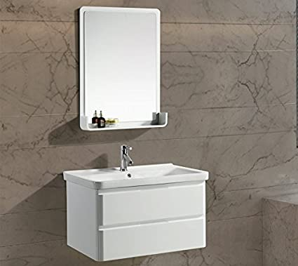 Mobile Arredo Bagno White Plus 80 cm Bianco Moderno Sospeso