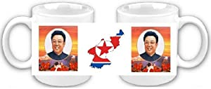 KIM JONG IL NORTH KOREA DPRK SOUVENIR COFFEE MUG