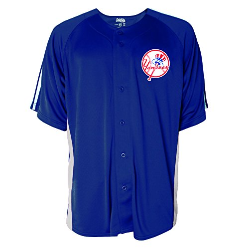 MLB New York Yankees Men's Button Down Fashion Jersey, Navy, X-Large (Mlb Men Jersey New York compare prices)