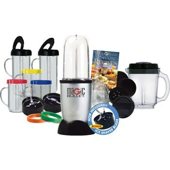 Magic Bullet Express Deluxe 27 Piece Mixer & Blender (Includes Ice Shaver Blade) Includes: The Healthy Green Drink Diet Book (Advice and Recipes to Energize, Alkalize, Lose Weight, and Feel Great)