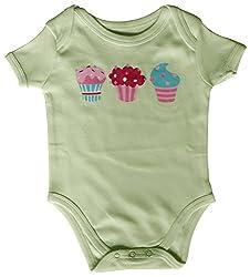 Kothari Unisex Kids' Regular Fit Romper (GBDS658_Lt Green_3-6 M, Green, 3-6 Months)