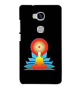 printtech Meditation Aura Back Case Cover for Hwawei Honor 5X