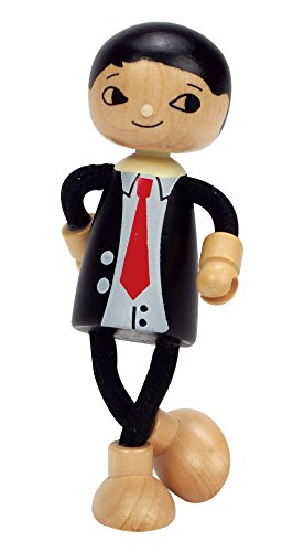 Hape Happy Family Poseable Wooden Dad Play Doll