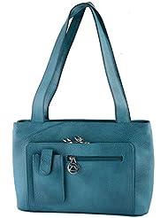 ZSOSS Genuine Leather Handbag (ZSOSSMBLPOCKET-PEACOCK)