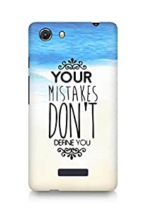 AMEZ your mistakes dont define you Back Cover For Micromax Unite 3