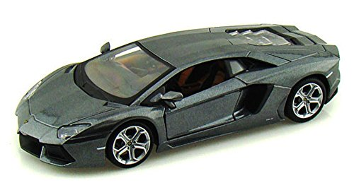 Maisto Lamborghini Aventador LP700-4 Hard Top 1/24 Scale Diecast Model Car Gray (Lamborghini Aventador Model compare prices)