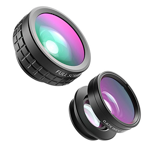 Gizcam-3-in-1-Phone-Lens-Kits-180-Degree-Fisheye-Lens-067X-Wide-Angle-Lens-and-10X-Macro-Lens-for-iPhone-ipadSamsung-Android-Smartphones