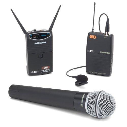 Samson Sw87Shq7Lm5-N3 Um1/77 Combo Micro Diversity Wireless System