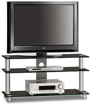"Just-Rack TV 1203 Aluminium Universalmöbel fur Flachbildschirme, TV - und Audio Geräte"""