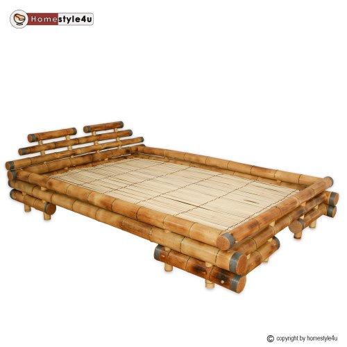 qasgaere de kaufen homestyle4u bambusbett futonbett bambus bett 140 x 200 cm in braun. Black Bedroom Furniture Sets. Home Design Ideas