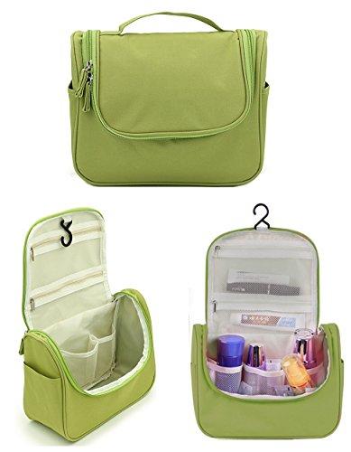 CINEEN Appendere Beauty Case da Viaggio Borsa da Toilette Impiccagione Outdoor Pratico Cosmetici Borsa da Viaggio per Accessori Bagno (Verde)