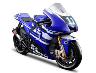 Yamaha YZR-M1 (Ben Spies No 11 MotoGP 2011) in Blue (1:10 scale) Diecast Model Motorbike