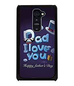 Printvisa Fathers Day Quote Back Case Cover for LG G2::LG G2 D800 D980