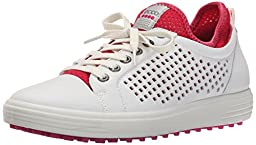 ECCO Women\'s Summer Hybrid Golf Shoe, White/Raspberry, 41 EU/10-10.5 M US