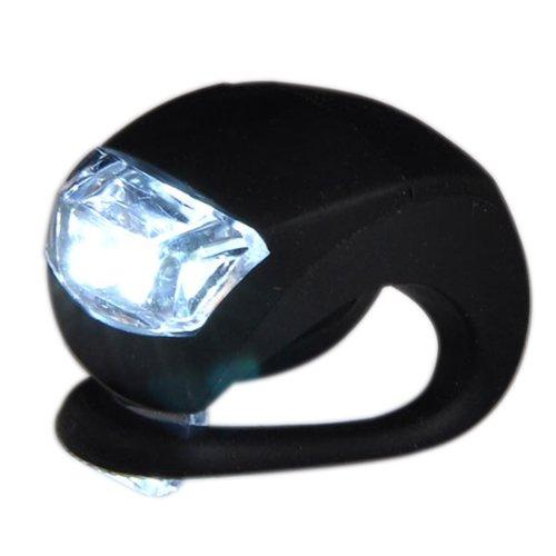 Housweety LED Fahrradleuchte Schwarz mit Weiß Fahrradlicht Fahrrad Lampe Licht,Weiß Fahrradrücklichter Lampe