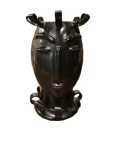 Asian Art Imports Lucy Vase, Black