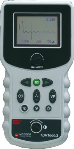 Megger 655535F Hand Held Time Domain Reflectometer, Monochrome Display, Standard Battery