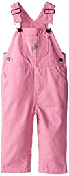 Carhartt Baby Girls\' Canvas Bib Overall Inf Tod, Pink, 24 Months