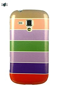 Dressmyphone Colorful Rainbow Soft TPU Jacket for Samsung Galaxy S Duos 2 S7582 and Samsung Galaxy S Duos S7562  Design 1    Multicolor available at Amazon for Rs.349
