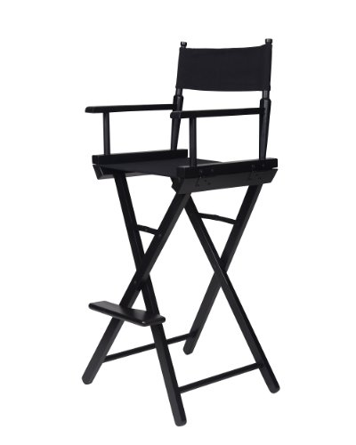 yu shan newport bar height directors chair black frame blk canvas