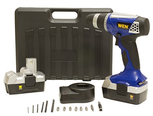 WEN 5182 18-Volt Cordless Drill/Driver with 2 Batteries
