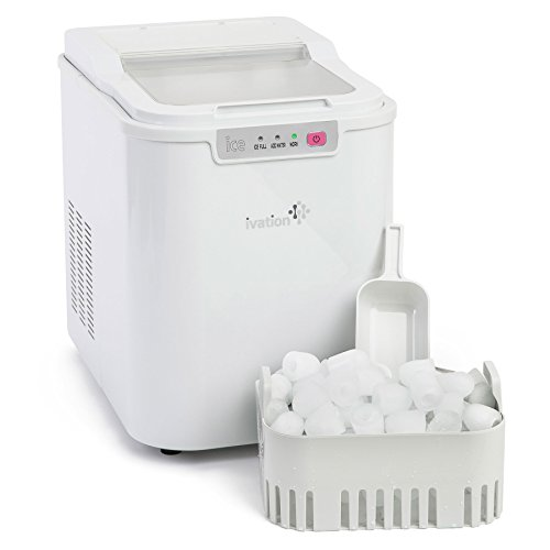 Ivation Portable Compact High Capacity Household Ice Maker – Features 2.2-Liter Water Reservoir – Yields up to 26.5 Pounds of Ice Daily