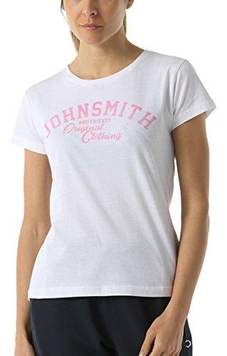 John Smith Fontana-Maglietta a maniche corte da donna Bianco bianco S
