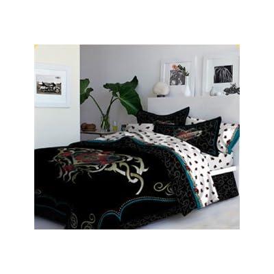 Best 28 harley davidson comforter set harley bedding for Tattoo bedding queen