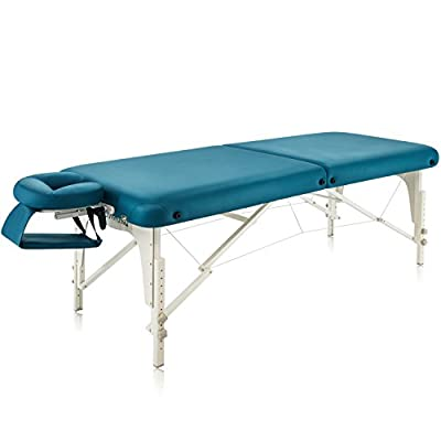 """Dr.lomilomi 30"""" Deluxe Portable Massage Table 101 Spa Bed with Carry Case and Cover Sheet Set"""
