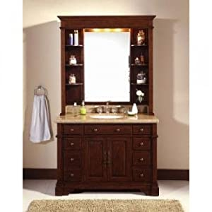 "WF6495/DC 48"" Single Bathroom Vanity Set with Hutch"