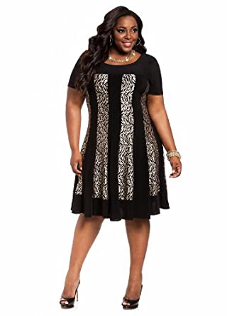 plus size attire navy blue