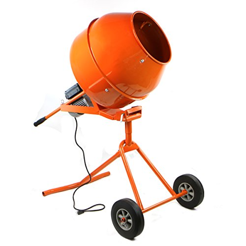 NEW Portable 5 Ft Electric Concrete Cement Mixer Machine 1/2 HP Mixing Concrete
