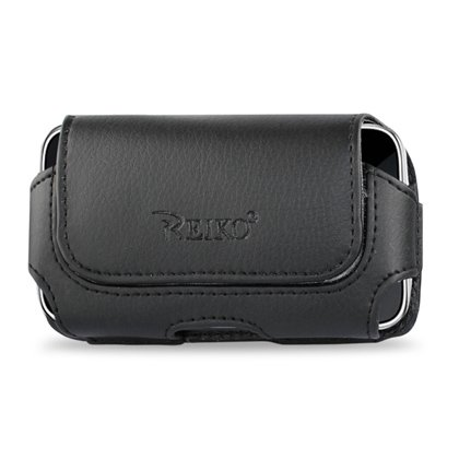 Leather Pouch Protective Carrying Cell Phone Case for Apple iPhone 4 16GB 32GB / 3GS - 16GB 32GB 3G - 8GB / Garmin Asus Garminfone / HTC myTouch (2010) T-Mobile HTC Hero / Huawei Ascend Cricket/ LG Optimus T T-Mobile Optimus S Sprint / Motorola Droid 2 (Global) Verizon Milestone XT720 Droid 2 / Nokia E72/ PCD Razzle TXT8030 Pantech Ease Laser AT&T / Samsung Craft SCH-R900 MetroPCS R350 / Sharp FX / Sony Ericsson Aspen - Black