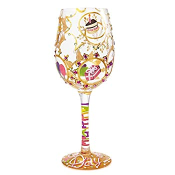 """""""Queen For a Day"""" Hand-painted Artisan Wine Glass"""